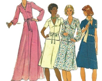 1970s Butterick 4286 Fast and Easy Misses Dress Top Skirt and Belt Pattern Women's Vintage Sewing Pattern Size 16 Bust 38 or Size 18 UNCUT