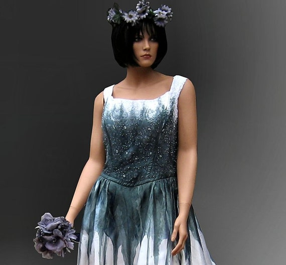 Corpse bride gothic gown sale 60 0ff by thebohemiangoddess for Corpse bride wedding dress for sale