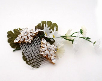 Matched set of Swarovski Blossom Bridal Hair Combs