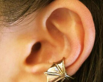 Ear Cuff Wing Bronze - Ear Wing Ear Cuff - Dragon Wing Bat Wing - Steampunk Ear Cuff Steampunk Jewelry Non Pierced Earring Non Pierced Cuff