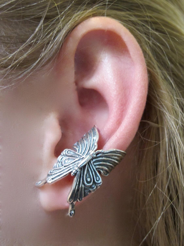 Silver Ear Cuff Butterfly Ear Cuff Silver Butterfly Earring - photo#21