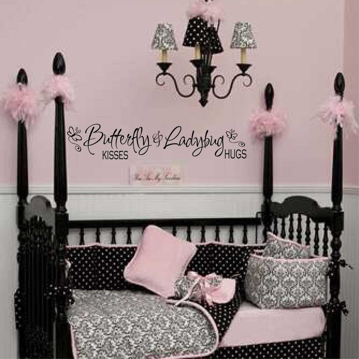 butterfly kisses decal girls wall decal baby girl decal - 🔎zoom
