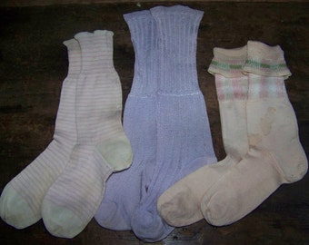 3 Pack Not Your Ordinary Vintage Childs Socks Girls