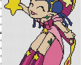 Star Faerie Cross Stitch Pattern - Professional Pattern Designer and Artist Collaboration