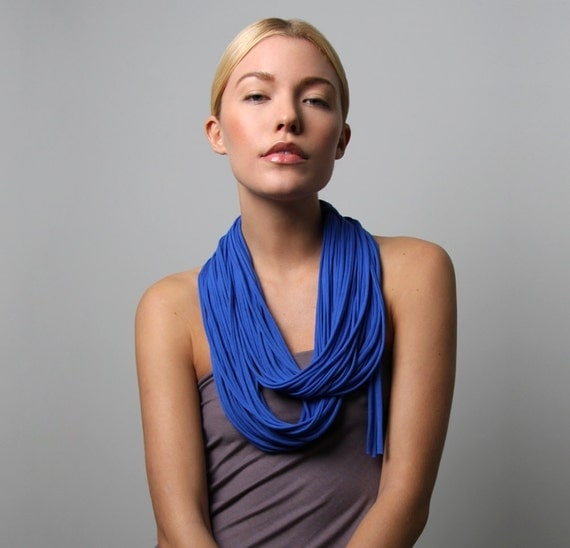 Infinity Scarf, Gift For Her, Blue Infinity Scarf, Blue Scarf, Necklace, Blue Summer Scarf, For Her, Accessories, Scarves and Wraps, Scarves
