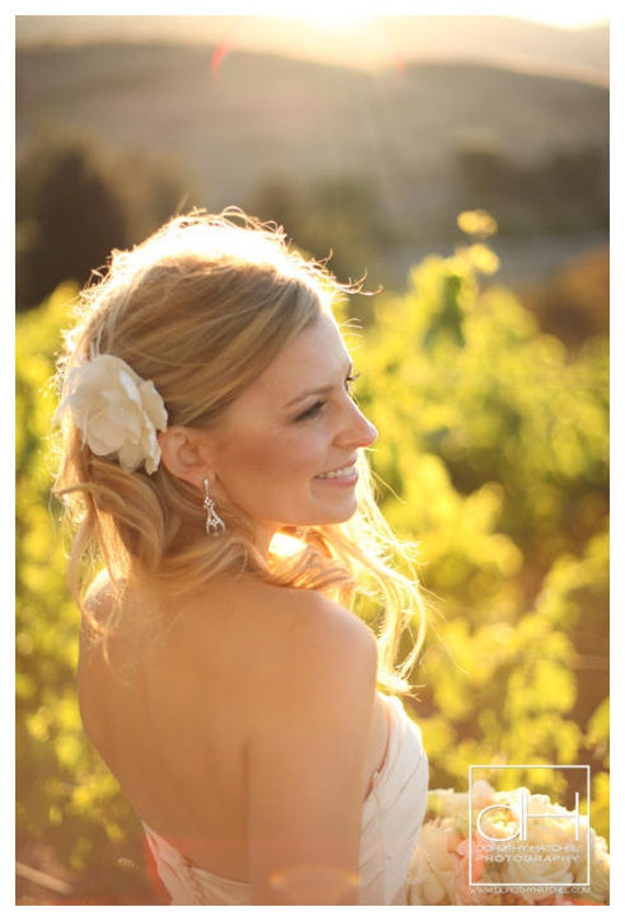 Bridal flower with feathers, rhinestones and pearls - CHICAGO no.44