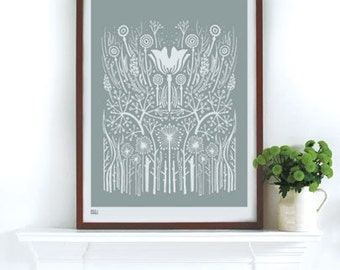 Hedgerow - decorative screen print