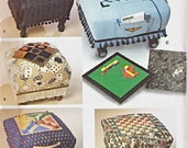 OTTOMAN & GAME BOARD Sewing Pattern - Checkers Backgammon Tic-Tac-Toe More