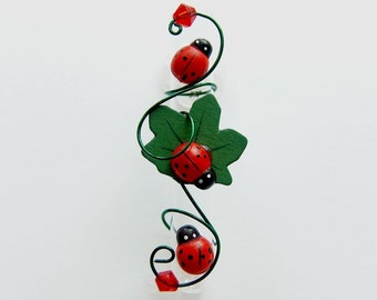 Lady Bug Suction Cup Vase Glass Rooting Vase Bud Vases Window Vase