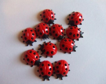 Vintage, West German Plastic ladybug cabs
