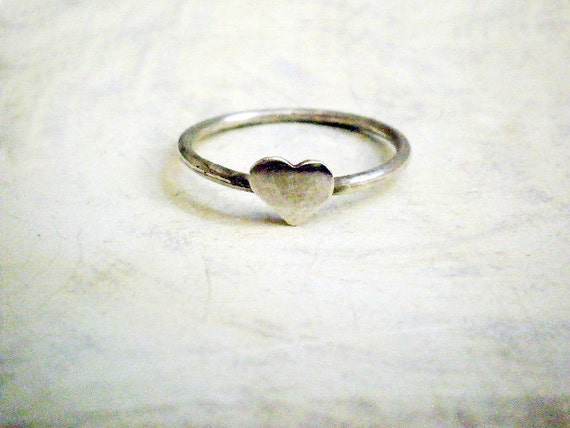 RESERVED for Katie- 10x Heart ring -  Sterling silver