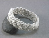 rope bracelet white cotton turks head knot bracelet nautical sailor bracelet rope jewelry fisherman bracelet 100