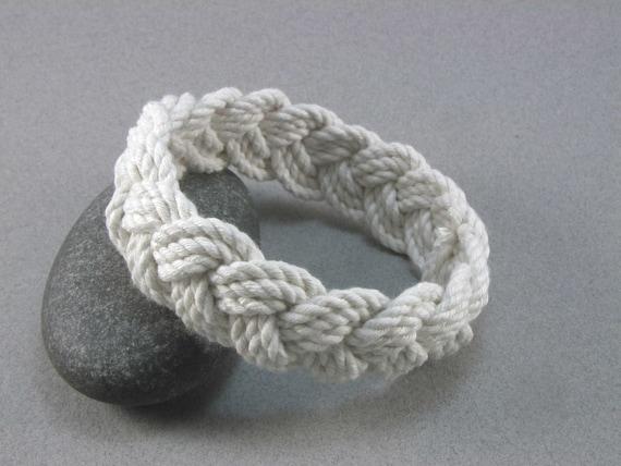 rope bracelet white cotton turks head knot bracelet nautical sailor bracelet rope jewelry fisherman bracelet 100