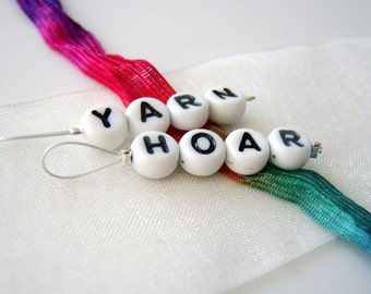 Yarn Hoar - Two Snag Free Stitch Markers - Fits Up to 5.5 mm (9 US) - Open Edition
