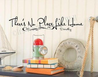 There's No Place Like Home 6x28 Wall Sayings Vinyl Lettering