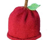 Red Apple Hat - Baby to Adult