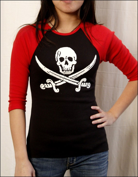 Clearance-- Womens Glow in the Dark Pirate Jersey