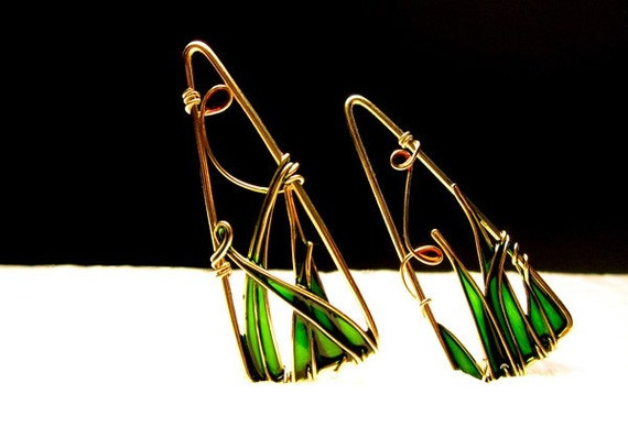 triangle earrings 12k gold filled earrings dangle earrings. Black Bedroom Furniture Sets. Home Design Ideas