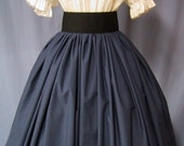 Long Skirt for Costume in Navy Blue Color - Civil War Reenactment - Pioneer - Colonial - Victorian - Renaissance Faire Event - Handmade