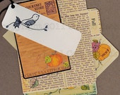 Digital Collage Sheet Victorian Fall tags, journalling spots, journal pages