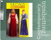 Easy Renaissance Gown Pattern Plus Size 8 10 12 14 16 Danielle Ever After Medieval Dress McCalls 5647 OOP