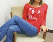 Tiger shirt, Big Cat, animal rescue, womens shirt, gift for her, animal shirt, red white blue, Womens tshirt, LSU, Auburn, cats