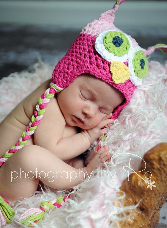 Owl Hat, newborn hat, Owl theme, hospital hat, baby hat, infant hat, owl nursery, photo prop, hospital hat, bring home from hospital hat