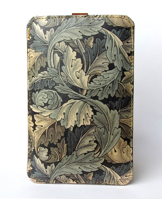 Leather iPhone case / iTouch case / HTC (Desire/Mozart) Case - William Morris design