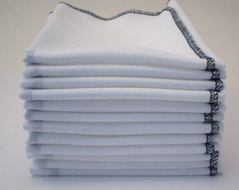 Unpaper Towels Black Bordered  - Washable Reusable Birdseye Cotton