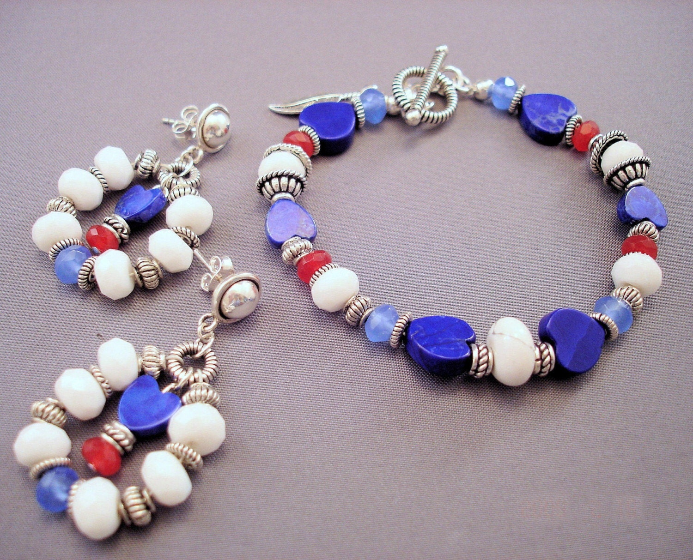 patriotic jewelry gemstone jewelry gemstone bracelet