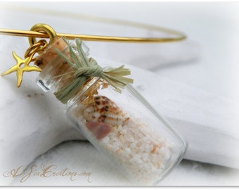 Beach in a Bottle Pendant - Nautical Choker