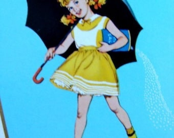Vintage Antique Kitsch Girl With Umbrella Aqua Playing Cards
