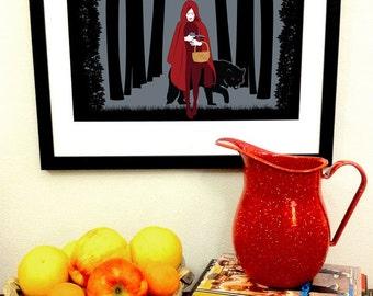 Red Riding Hood Art Print -- 11x17