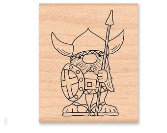 VIKING RUBBER STAMP~Small or Large Size~Nordic~Scandinavian~Norseman~Sweden~Norway~wood mounted~Mountainside Crafts(01-12LG)(59-17SM)