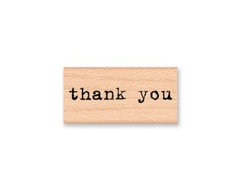 THANK YOU STAMP rubber stamp wedding favor favours cards tags type font papercrafting stamp wood mounted mountainsidecrafts(17-28)