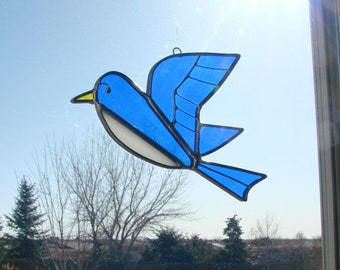 Barn Swallow in Flight - Stained Glass