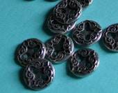 Metal Buttons Victorian Style for Garments, Doll's Clothing, Costume or Jewelry Design