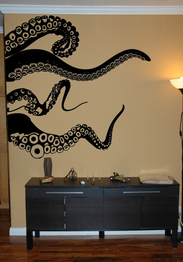 Large Kraken Octopus Tentacles Vinyl Wall Decal-Choose Any