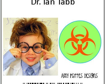 Scientist Badges Boy's Personalized Printable Badges