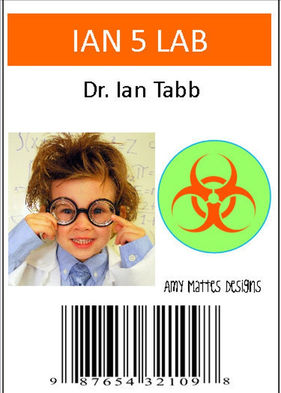 Scientist Badges Boy's Personalized Printable Badges