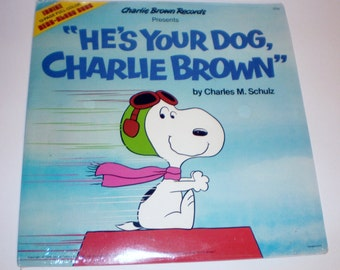 Peanuts Snoopy 33 rpm Vinyl Record Collectible Entertainment, He is Your Dog Charlie Brown, Unopened Vintage Vinyl Record