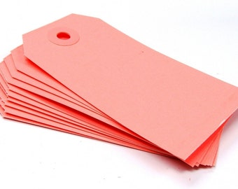 25 Medium Manilla Parcel Shipping Tags in Pink . Size 3 (3.75 x 1.875)