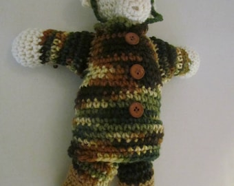 Amigurumi Military Bear, Crochet Bear, Stuffed Animal, Handmade Toy, Military Bear Baby Shower, Bear. Birthday,