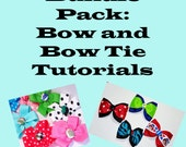 Bundle Pack: Bow and Bow Tie Tutorials  Save 2.00