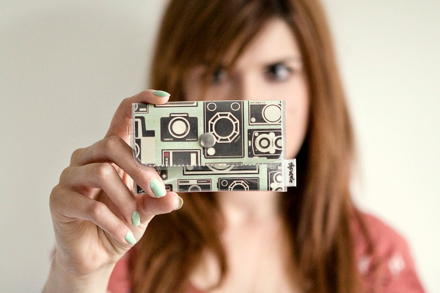 Vintage camera business card wallet for Cool photography business card