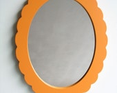 scallop mirror small accent mirror for baby or kids room
