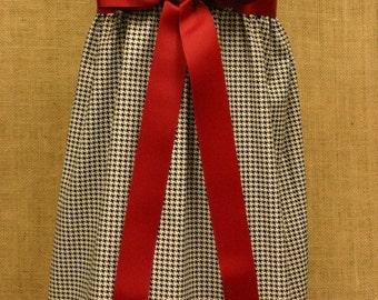 Black and White Houndstooth Zadee Dress - Alabama Roll Tide Dress...Game Day Dress...Girls Jumper...Girls Houndstooth Dress