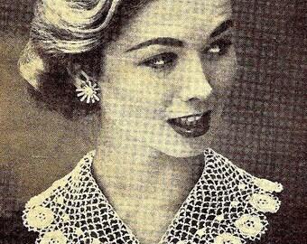 Irish Crochet Collar Crochet Pattern 723118
