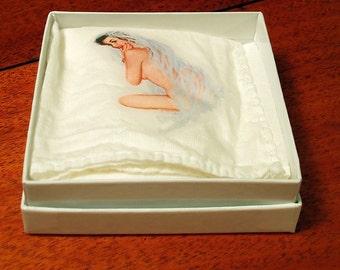 Pinup handkerchief - Blushing Bride - napkin or bandanna - Wedding