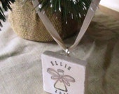 Personalized Angel Ornament - Christmas Remembrance - Sympathy - In Memory - Gift Box